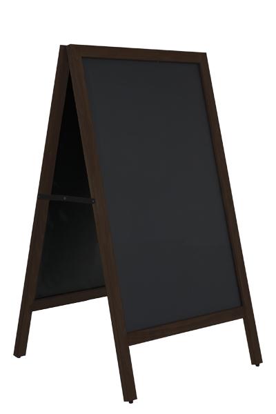 Wooden A-board Black with Steel Board