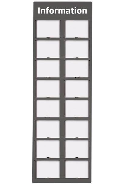 Info Module Board 16 x A6, grey