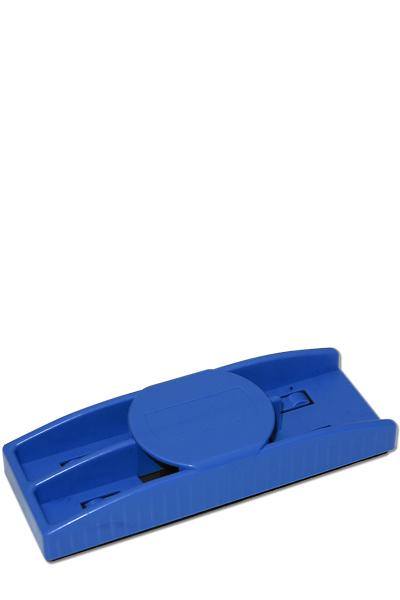 Blå plastik tavlevisker med sort filtsvamp