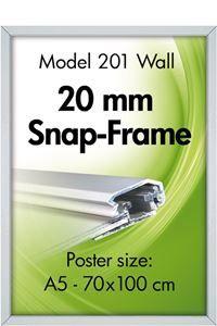 Alu Snap-Frame, væg, 20 mm