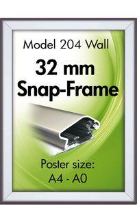 Alu Snap-Frame, væg, 32 mm