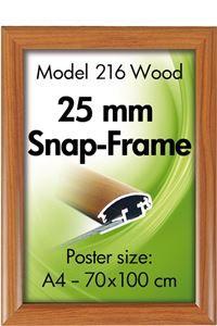 Alu Snap-Frame væg 25 mm trælook