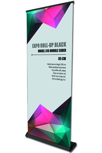 Expo Roll-Up,enkeltsidet sort