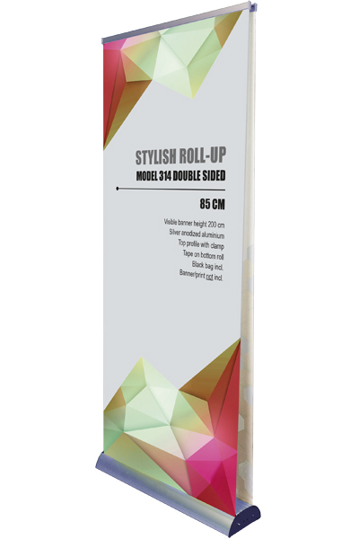 Stylish Eco Roll-Up, double sided