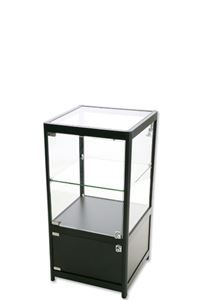 Showcase Counter, Solo with storage - Black