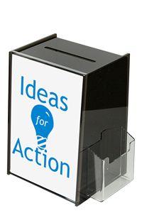 Tip Box Black with Info & Cardholder