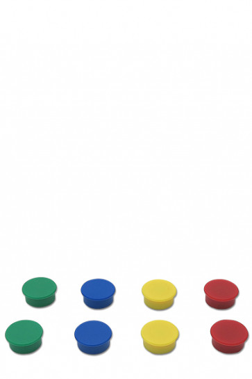 Magneter til f.eks. White Board. 8 stk. - mix.
