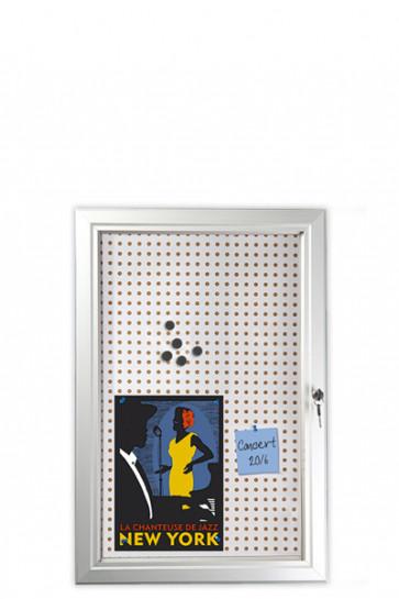 INFOBOX Combi m/lås 45mm 6xA4 Alu
