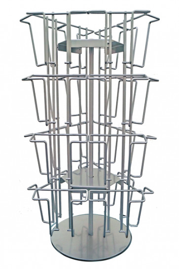 Wireholder Spin Table 24 x A6/M65 Sølv