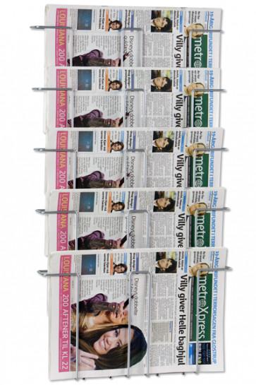 News Paper Wall 5 sølv