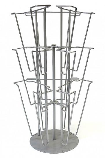 Wireholder Spin Table, 9xA4. Bordstander, sølv
