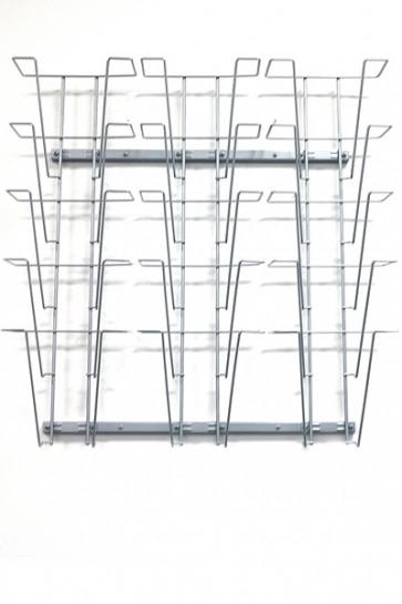 Wireholder Wall, 15xA4 sølv