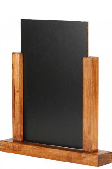 Wooden Menuholder Chalkboard, mørkt træ, A5