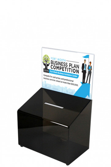 Tip Box Black with Info Holder A6