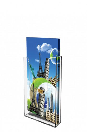 Acrylic Wall Brochureholder M65 klar
