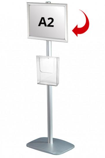 Mini Multistand 3 - Enkeltsidet A2 Snap Frame + A4 Brochureholder