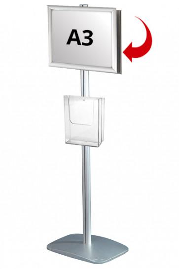 Mini Multistand 4 - Dobbeltsidet A3 Snap Frame + A4 Brochureholder