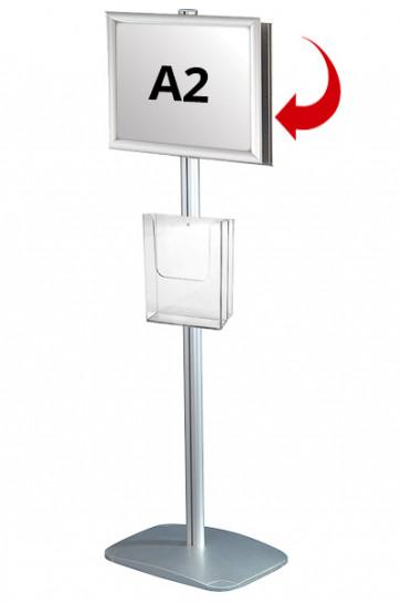 Mini Multistand 4 - Dobbeltsidet A2 Snap Frame + A4 Brochureholder