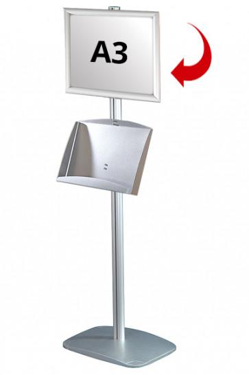 Mini Multistand 5 - Enkeltsidet A3 Snap Frame + A3 Stål hylde