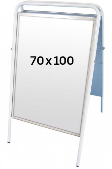 EXPO SIGN gadeskilt 22mm 70x100 cm hvid