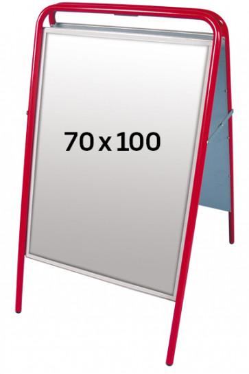 EXPO SIGN gadeskilt 22 mm 70x100 cm rød