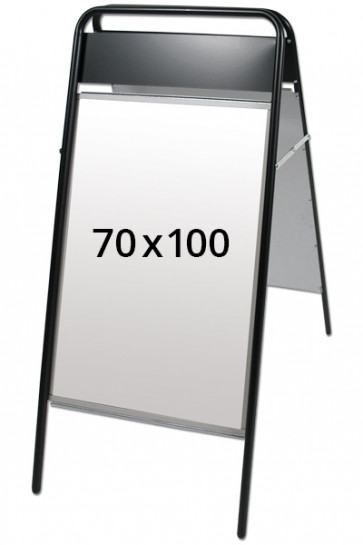 EXPO SIGN gadeskilt 22mm 70x100cm OD sort