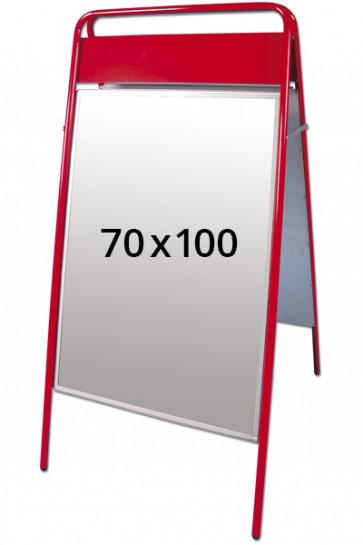 EXPO SIGN gadeskilt 22mm 70x100cm OD rød
