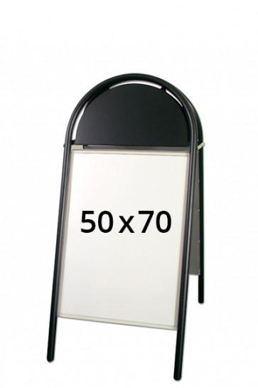 EXPO GOTIK LUX gadeskilt 32mm 50x70cm sort