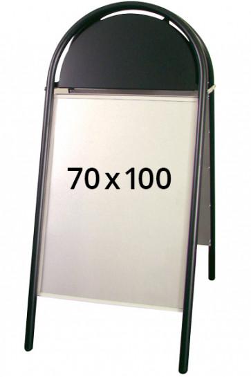 EXPO GOTIK gadeskilt 25mm 70x100cm sort