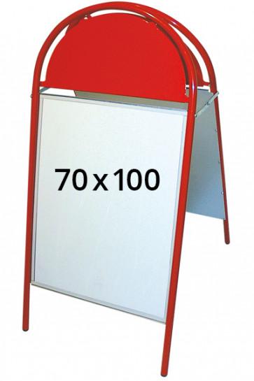 EXPO GOTIK gadeskilt 25mm 70x100cm rød