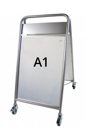 EXPO SIGN LUX gadeskilt m/HJ+OD A1 sølv