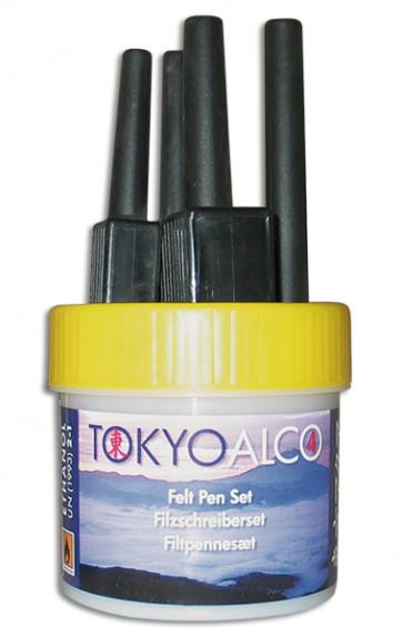 TOKYO ALCO 4 filtpennesæt gul