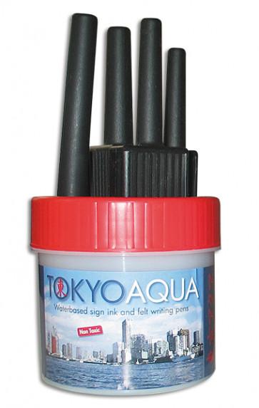TOKYO AQUA 4 filtpennesæt rød