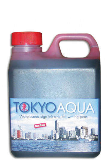 TOKYO AQUA skilteblæk 1 ltr. rød