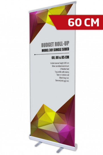 Budget Roll-up, Enkelt Model 60 - alu