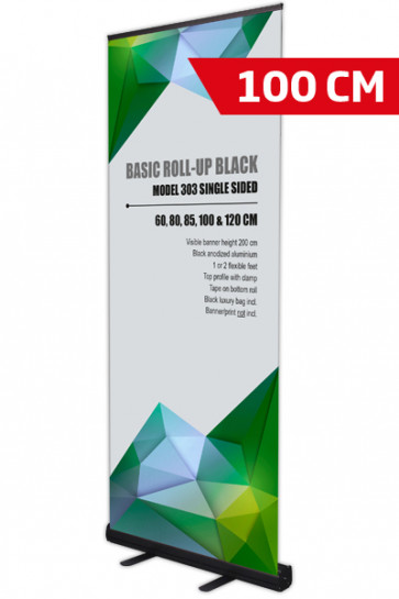 Basic Roll-up, Enkelt Model 100 - sort