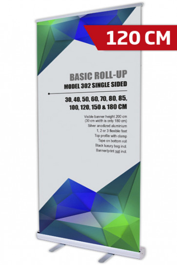 Basic Roll-up, Enkelt Model 120 - alu