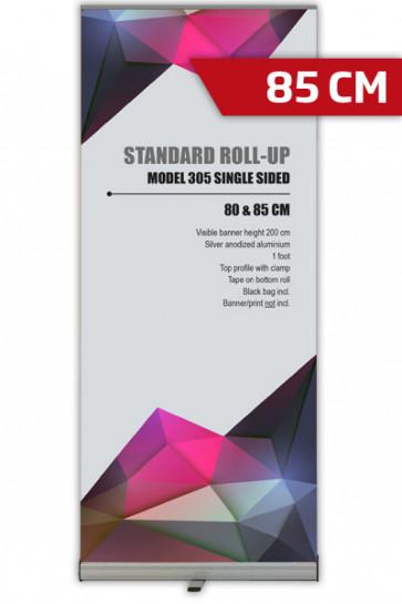 Standard Roll-up, 85cm, enkeltsidet - alu