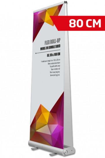 Flex Roll-up, dobbelt 80x200cm alu, med taske