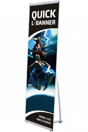 Quick L-Banner, enkelt 60x200cm alu