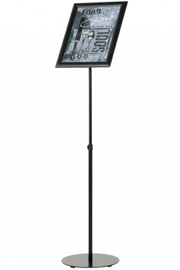 Infostand Telescopic Black  A3