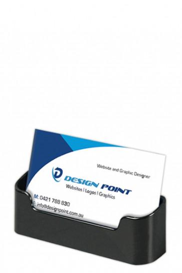 Visitkortholder  - rounded -  horisontal - sort