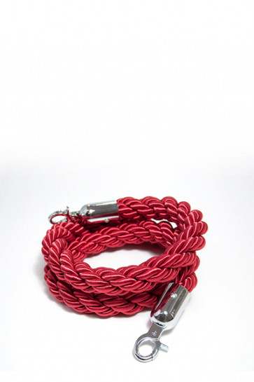 Crowd control rope, red