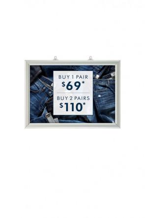 Slide-In Frame 25mm Horisontal A3 Alu