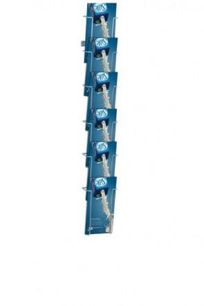 Wireholder Wall 6xM65 sølv