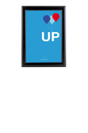 Opti Snap Frame 25 mm gering A4 - black