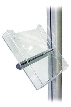 MULTISTAND akryl brochureholder m/alu beslag, A4