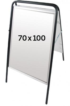 EXPO SIGN gadeskilt 70x100 sort