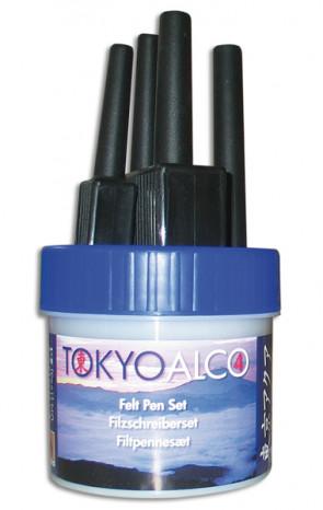 TOKYO ALCO 4 filtpennesæt blå