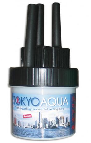 TOKYO AQUA 4 filtpennesæt sort
